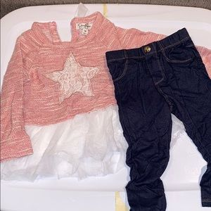 Jessica Simpson star top with jeggings 18 months